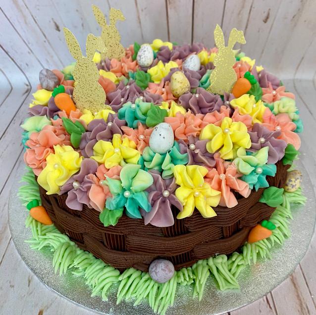 Chocolate Easter Basket Cake