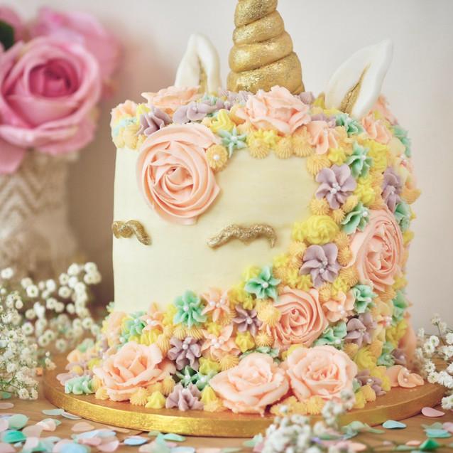 Butter, Sugar, Flower Unicorn Cake