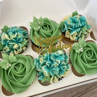 Green/Blue florals