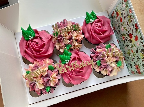 Floral Cupcake Gift Boxes