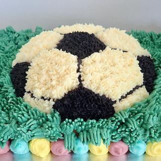Butter, Sugar, Flower Football Cake
