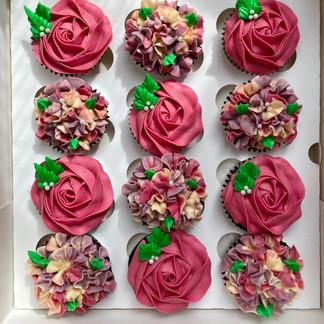 Dozen Floral Cupcakes