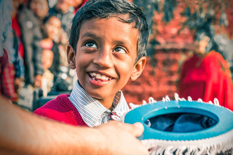 Nepali kid smiling