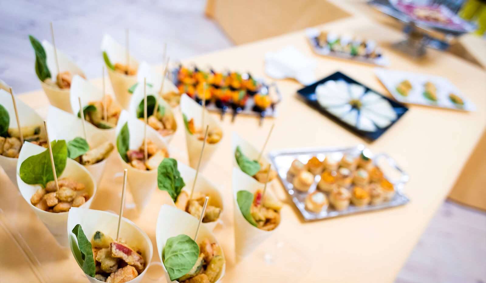 Sample of food photography at corporate event