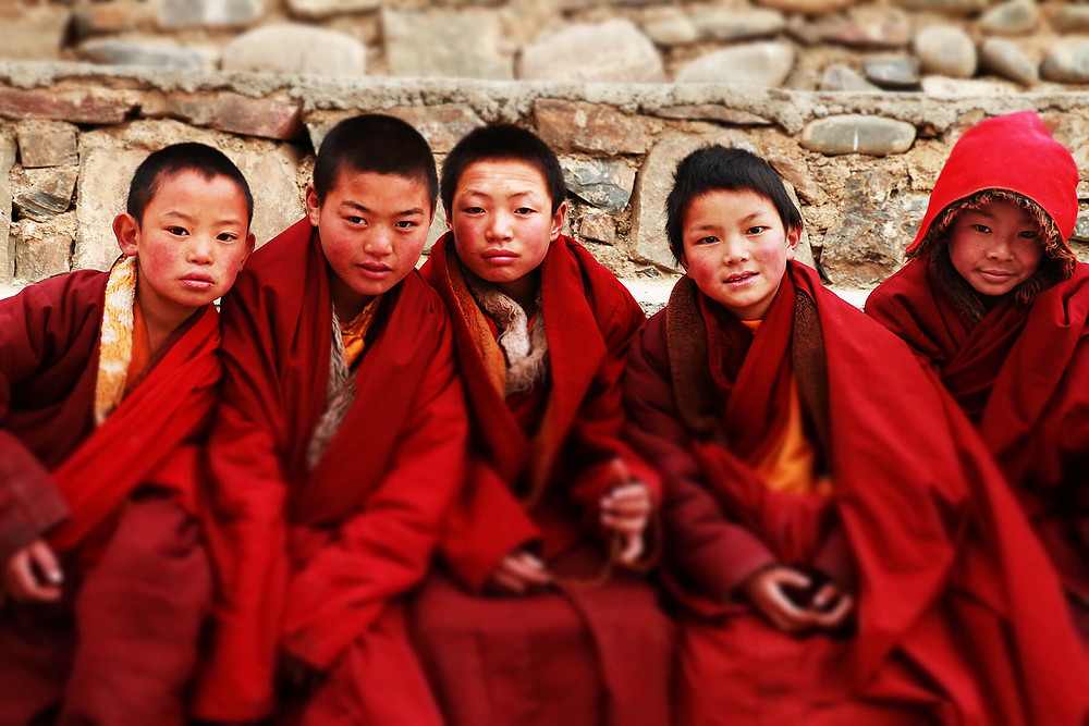 Group of young Tibetan Monks