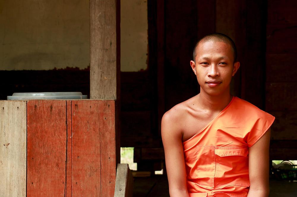 Buddisht monk student in Cambodia