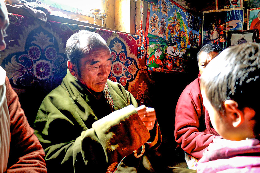 A Tibetan Lama at home