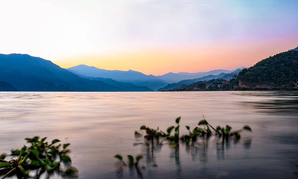 Sunset at Phewa Lake, Nepal