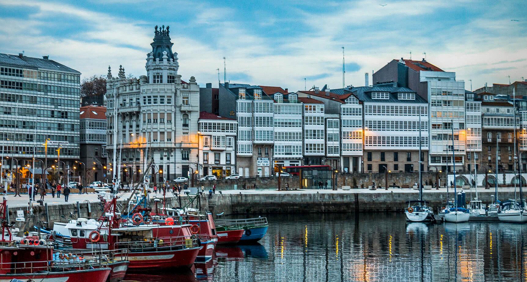 Spain - La Coruña Harbor