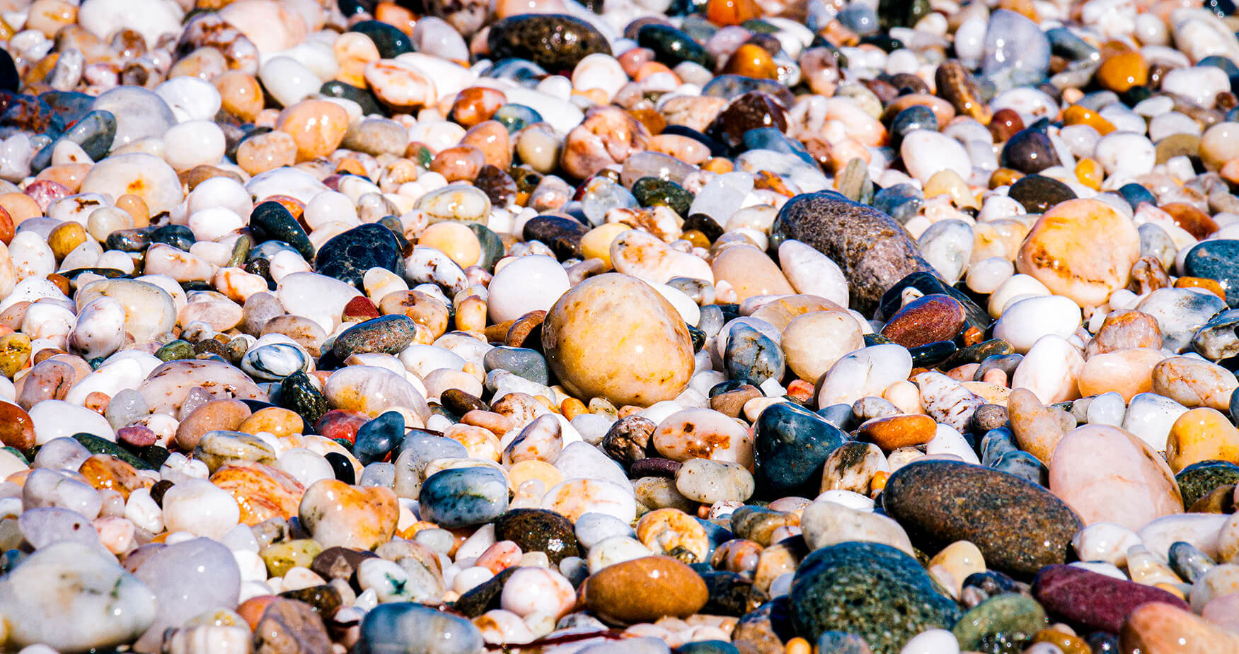 Beach stones carved by the Ocean
