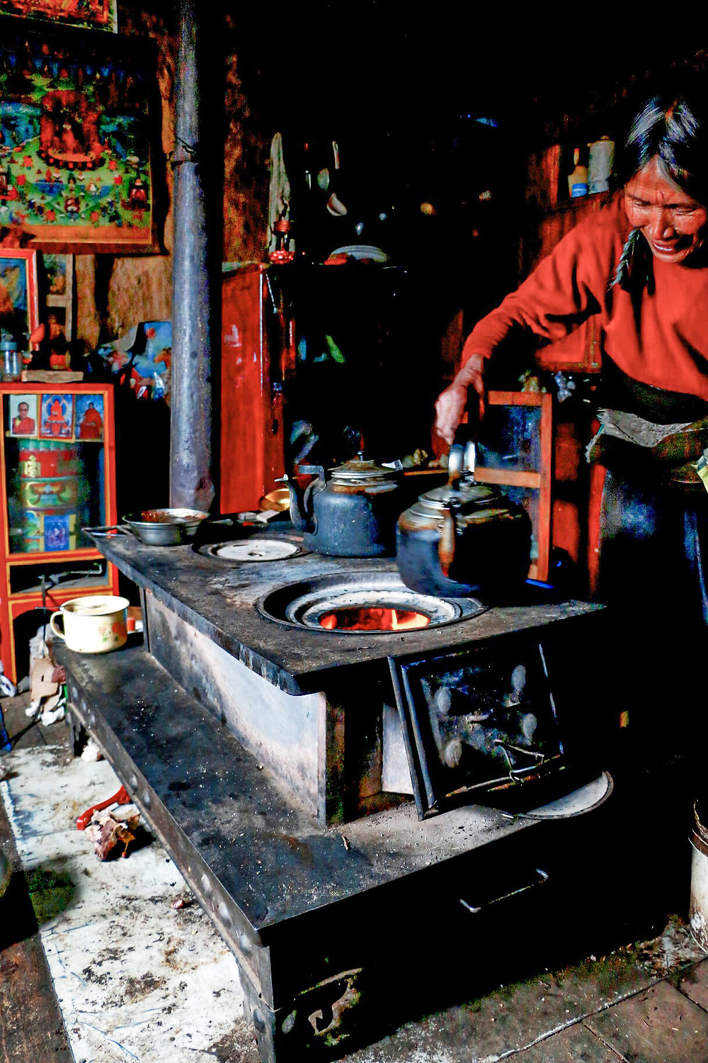 Tea at a Tibetan kitchen
