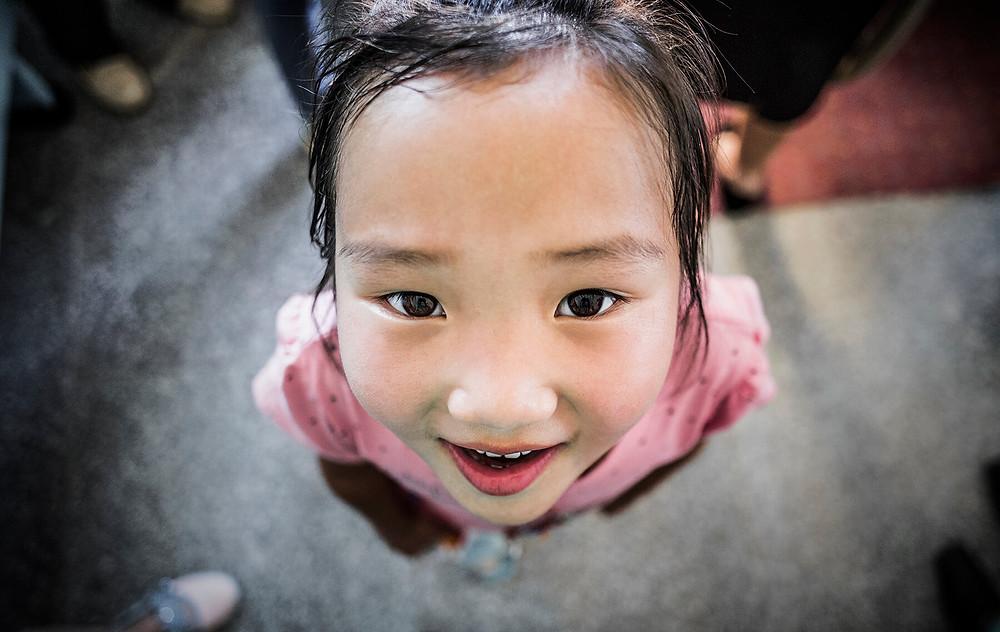 Little girl from Gobi, Mongolia