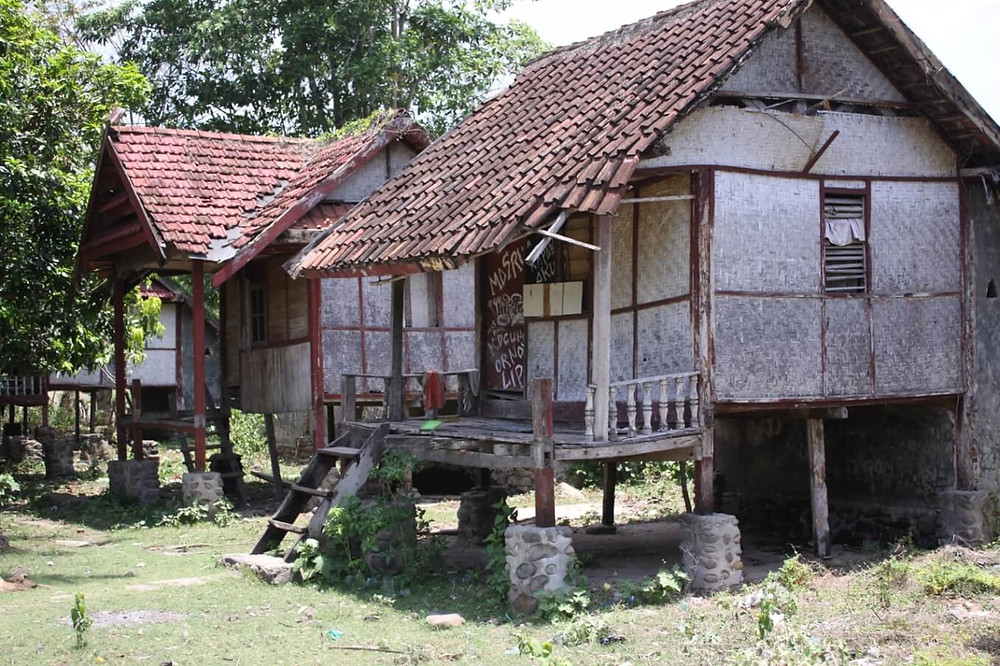 Casita en isla de Indonesia