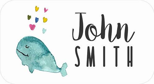 STICKER SET | Watercolour Whale