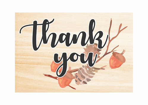 WOODEN THANK YOU SIGN | Autumn