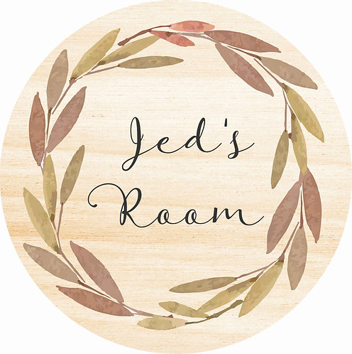 THE JED | Wooden Name Plaque