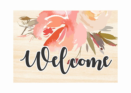 WOODEN WELCOME SIGN | Floral