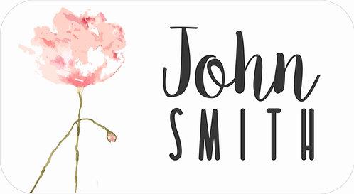 STICKER SET | Watercolour Pink Flower