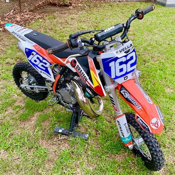 Custom KTM50SX kit ready to hit the trac