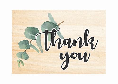 WOODEN THANK YOU SIGN   Leaf