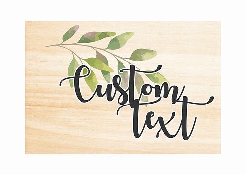 WOODEN CUSTOM SIGNS | Leaf