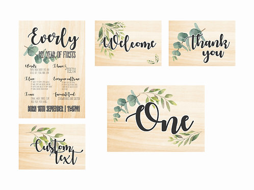 WOODEN PARTY PACK   Leaf