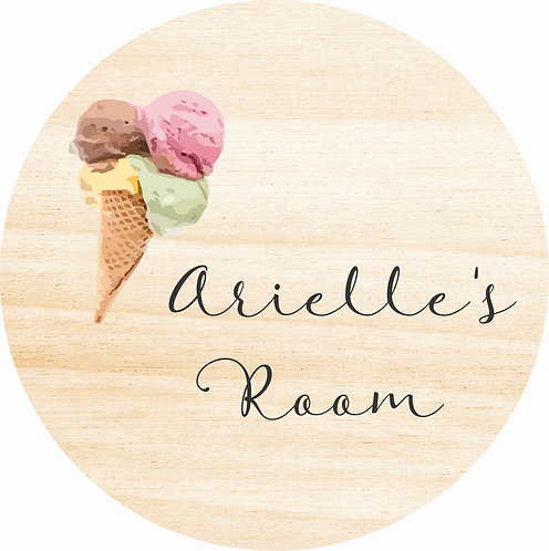 THE ARIELLE | Wooden Name Plaque