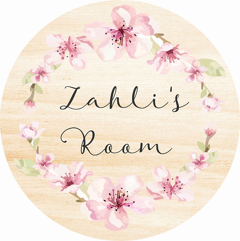 THE ZAHLI | Wooden Name Plaque