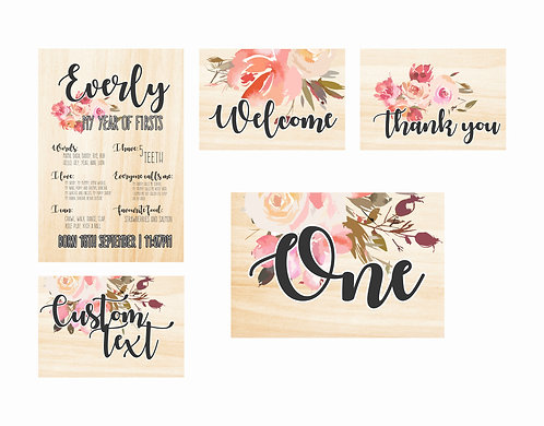WOODEN PARTY PACK | Flower