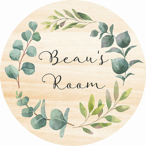 THE BEAU | Wooden Name Plaque