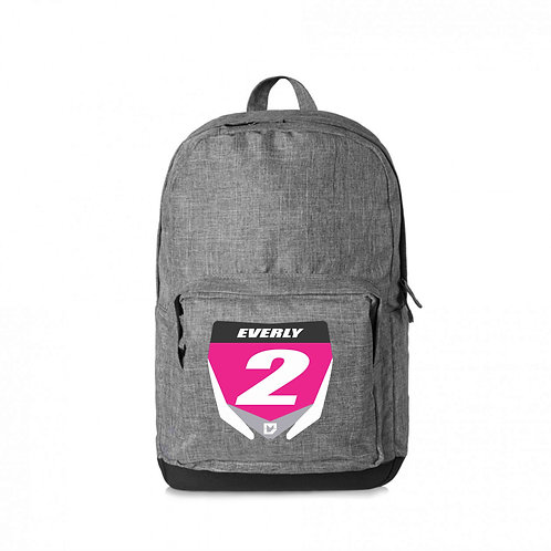 Custom Motocross Backpack - Grey