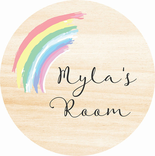 THE MYLA | Wooden Name Plaque