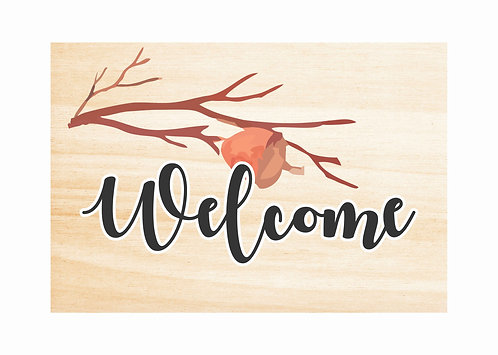 WOODEN WELCOME SIGN | Autumn