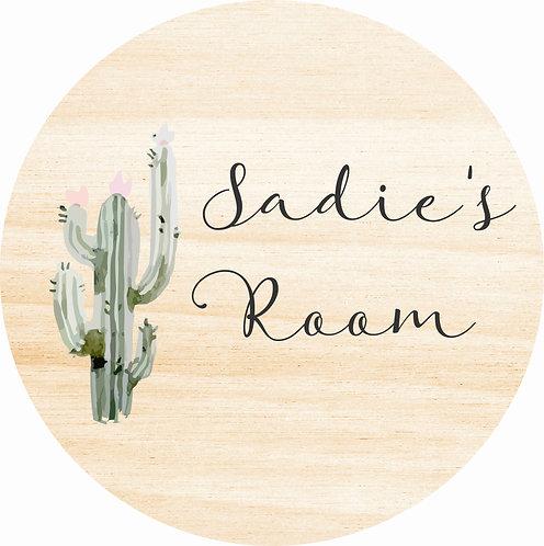 THE SADIE | Wooden Name Plaque