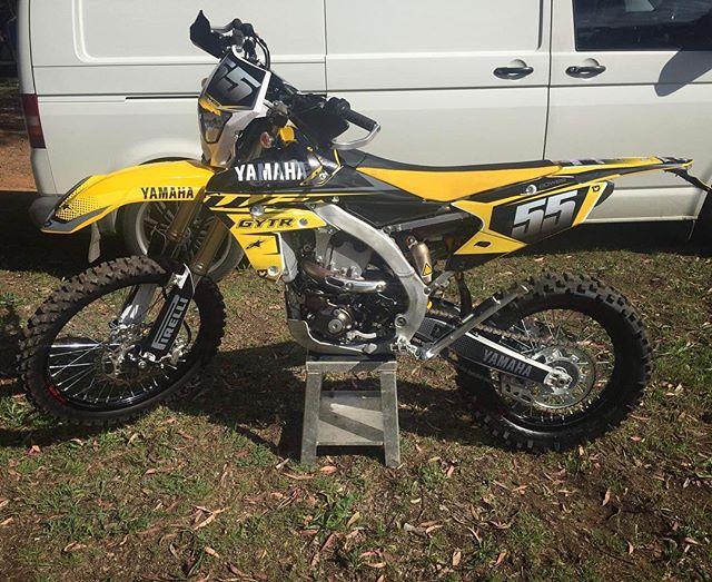 Custom graphics fitted to this Yamaha WR