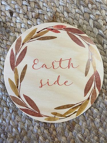 EARTH SIDE AUTUMN  | Wooden Plaque