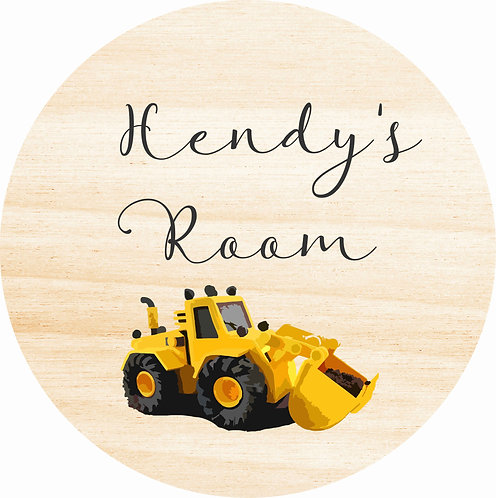 THE HENDY | Wooden Name Plaque