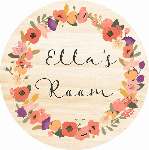 THE ELLA | Wooden Name Plaque