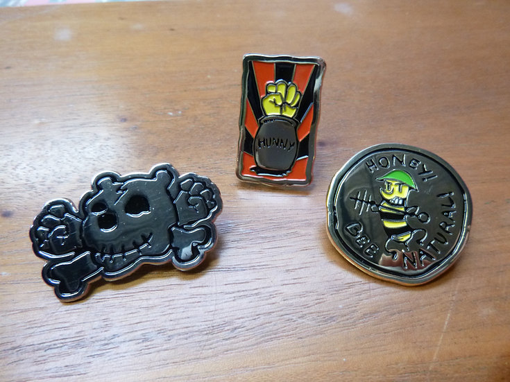 Set of three badges