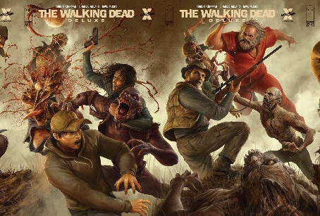 THE WALKING DEAD DELUXE #13-18 RETURN TO PRINT WITH NEW DAVE RAPOZA CONNECTING COVERS
