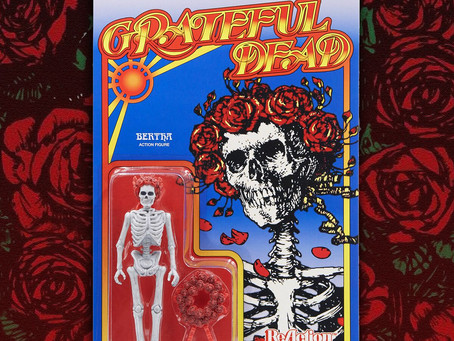 SUPER7 AND GRATEFUL DEAD TO CELEBRATE 50 YEARS OF SKULL & ROSES WITH BERTHA REACTION FIGURE
