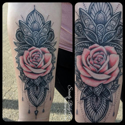 Rose and Mandala Design