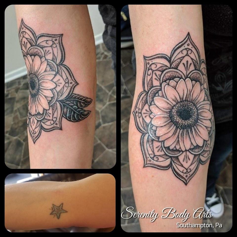 Sunflower Mandala Cover Up
