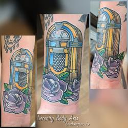 Neo Traditional Jukebox Tattoo
