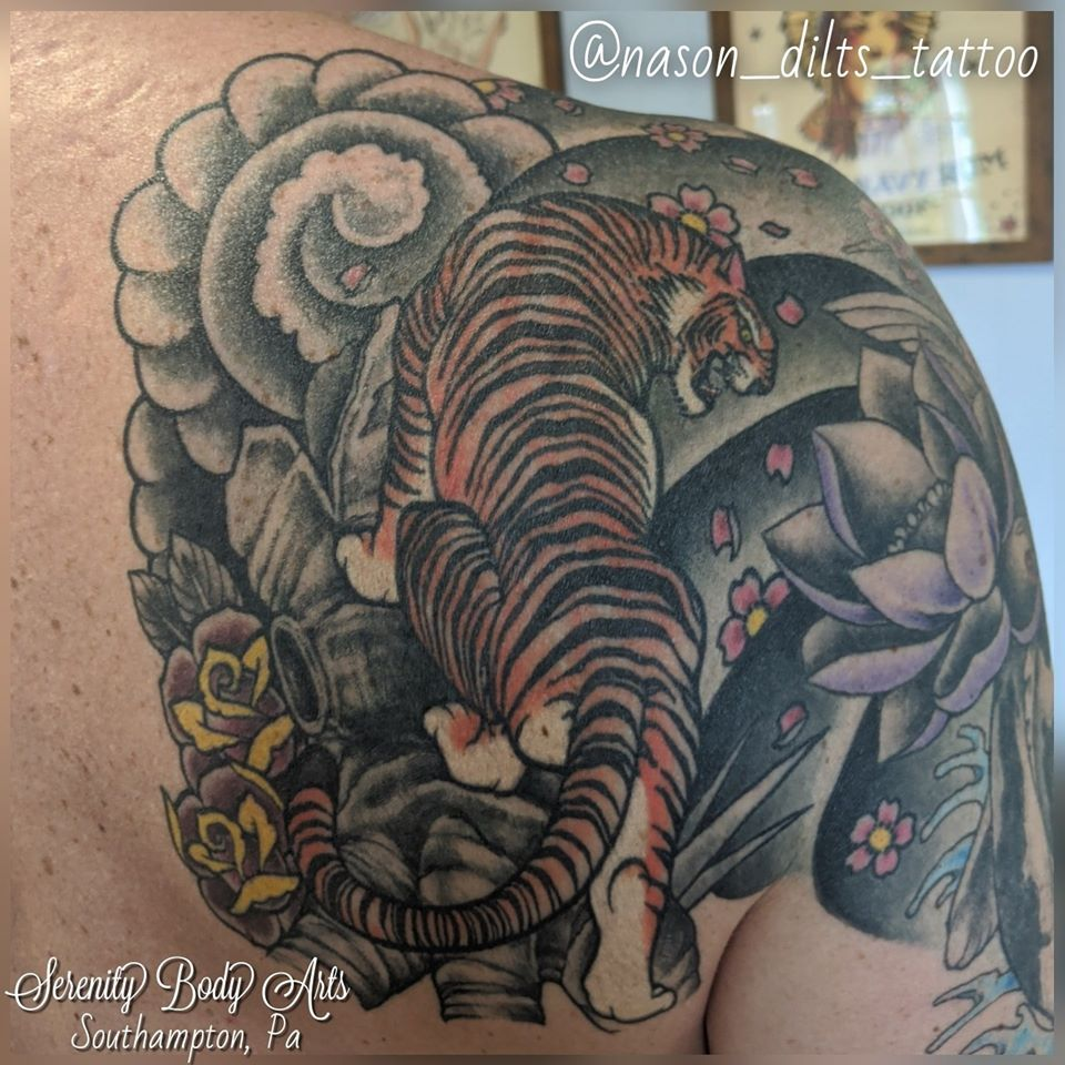Healed Japanese Traditional Tiger