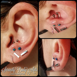 Double Anti Tragus Piercings