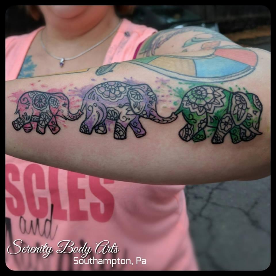 Watercolor Mandala Elephants
