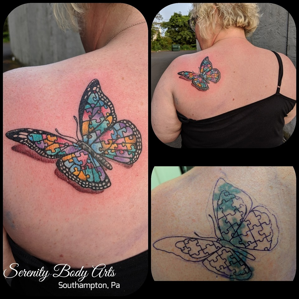 Autism Butterfly Cover Up