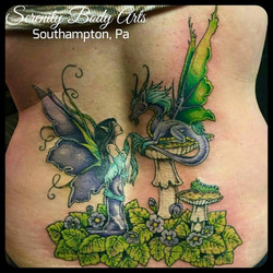 Fairy and Dragon Back piece