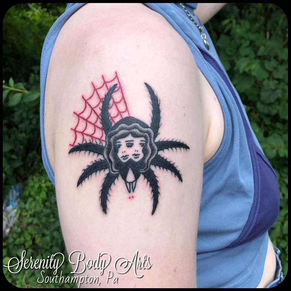 Double lady face spider